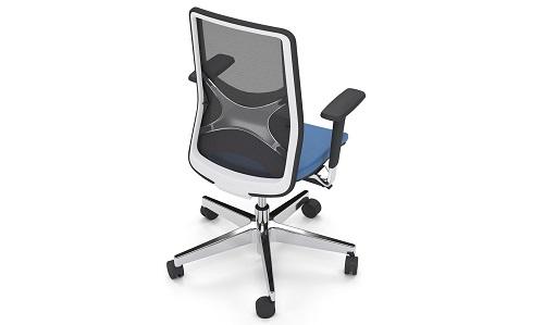 Krzesło biurowe Sail czarne skórzane