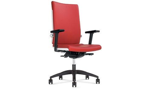 Krzesło biurowe w kolorze czerwonym