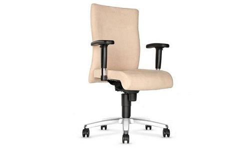 Krzesło biurowe Trinity w kolorze kremowym